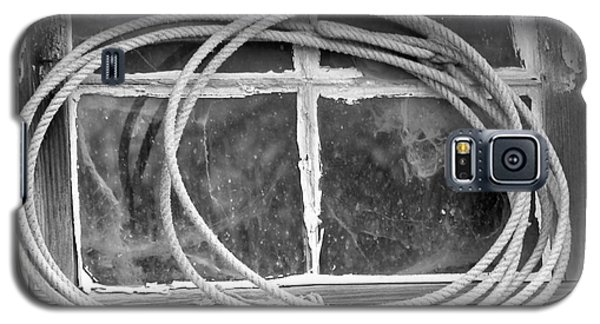 Galaxy S5 Case featuring the photograph Lasso In The Window  by Deniece Platt
