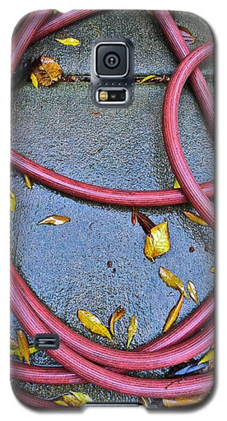 Galaxy S5 Case featuring the photograph Leaves And Hose by Bill Owen