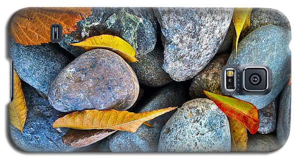 Galaxy S5 Case featuring the photograph Leaves And Rocks by Bill Owen