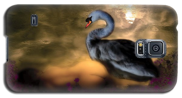 Galaxy S5 Case featuring the digital art Leda And The Swan by Rosa Cobos