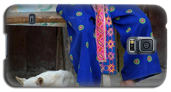 Galaxy S5 Case featuring the photograph Let Sleeping Dogs Dream by Nola Lee Kelsey