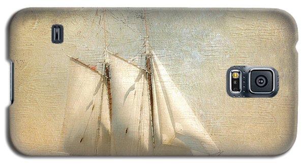 Liberty Clipper On Boston Harbor Galaxy S5 Case