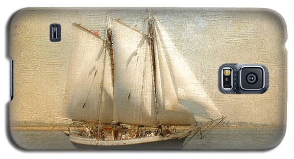 Liberty Clipper On Boston Harbor Galaxy S5 Case