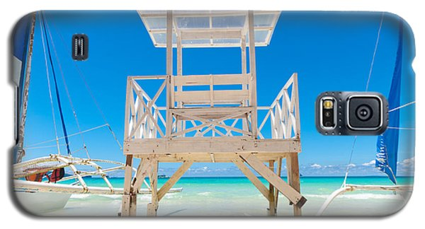 Galaxy S5 Case featuring the photograph Life Guard Tower by Hans Engbers
