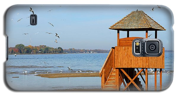 Galaxy S5 Case featuring the photograph Lifeguard Lookout by Mark J Seefeldt