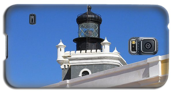 Galaxy S5 Case featuring the photograph Lighthouse At Puerto Rico Castle by Suhas Tavkar