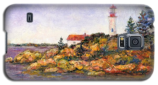 Galaxy S5 Case featuring the painting Lighthouse by Lou Ann Bagnall