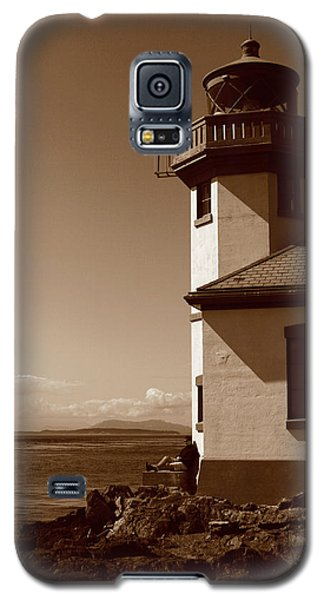 Galaxy S5 Case featuring the photograph Lighthouse San Juan by Lorraine Devon Wilke