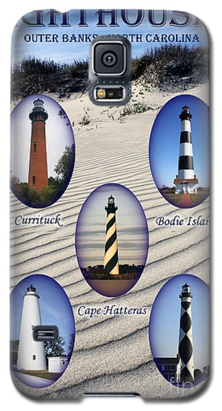 Galaxy S5 Case featuring the photograph Lighthouses Of The Outer Banks by Tony Cooper