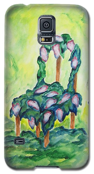 Galaxy S5 Case featuring the painting Lilacs In The Garden - Wcs by Cheryl Pettigrew