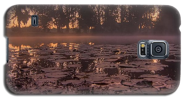 Galaxy S5 Case featuring the photograph Lily Pads In The Fog by Dan Wells