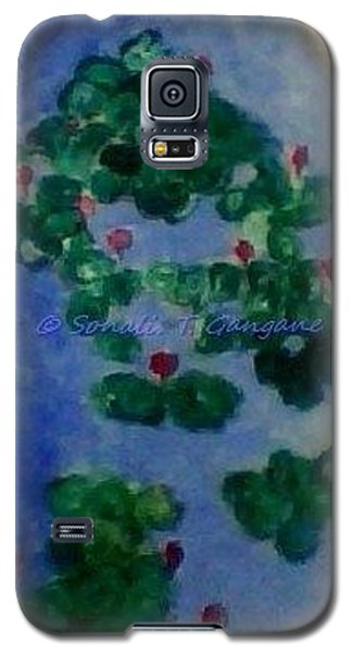 Galaxy S5 Case featuring the painting Lily Pond by Sonali Gangane