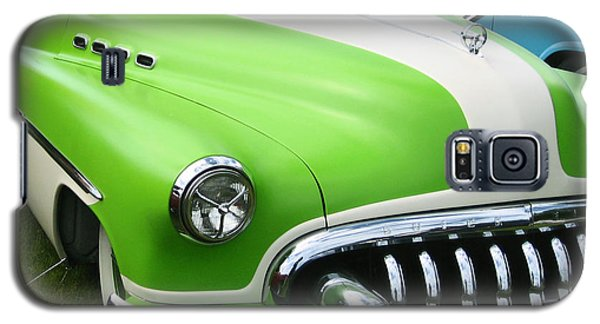 Galaxy S5 Case featuring the photograph Lime Green 1950s Buick by Kym Backland