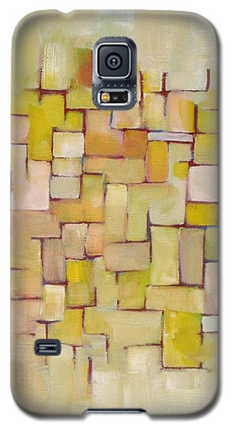 Line Series Yellow Basket Weave Galaxy S5 Case