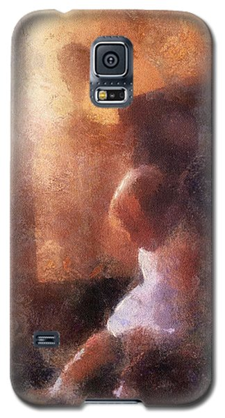 Little Girl Thinking Galaxy S5 Case