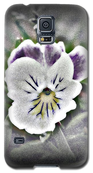 Galaxy S5 Case featuring the photograph Little Pansy by Karen Harrison