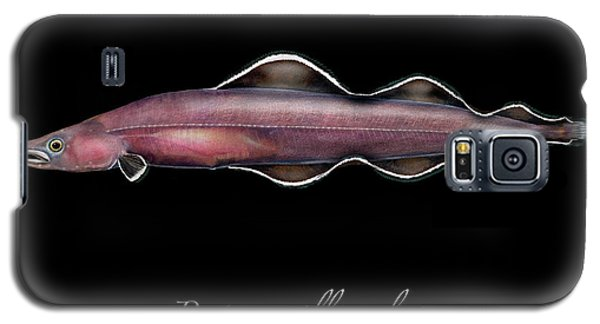 Galaxy S5 Case featuring the painting Living Fossil Eel - Protoanguilla Palau by Urft Valley Art