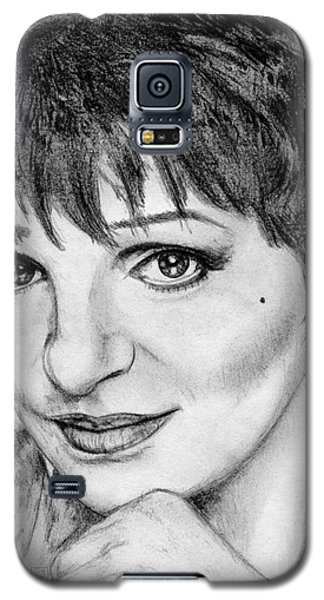 Galaxy S5 Case featuring the drawing Liza Minnelli In 2006 by J McCombie