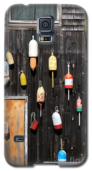 Galaxy S5 Case featuring the photograph Lobster Shack With Brightly Colored Buoys by Karen Lee Ensley