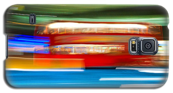 Galaxy S5 Case featuring the photograph London Bus Motion by Luciano Mortula