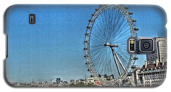 London Eye, #london #londoneye Galaxy S5 Case