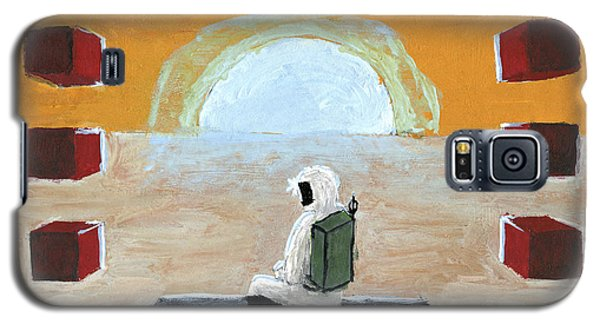 Galaxy S5 Case featuring the painting Loneliness Or The Thing From Another World by Raffaella Lunelli