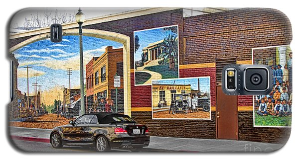 Galaxy S5 Case featuring the photograph Old Town Santa Paula Mural by Jason Abando