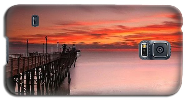 Long Exposure Sunset At The Oceanside Galaxy S5 Case by Larry Marshall