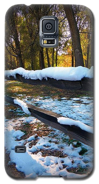 Galaxy S5 Case featuring the photograph Long Snow Fence by Michelle Frizzell-Thompson