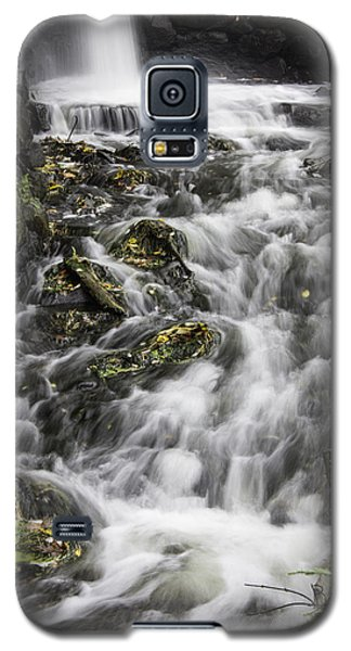 Galaxy S5 Case featuring the photograph Longfellow Grist Mill Waterfall by Betty Denise