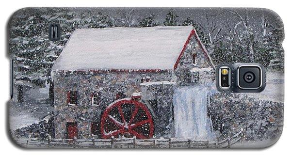 Longfellow's Grist Mill In Winter Galaxy S5 Case by Jack Skinner