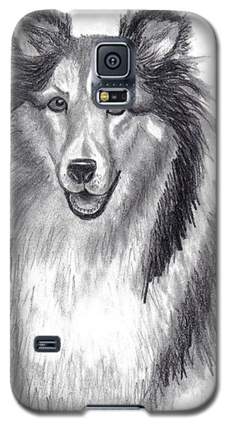Galaxy S5 Case featuring the drawing Looks Like Lassie by Julie Brugh Riffey