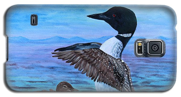 Loon Mother And Baby Galaxy S5 Case by Judy Filarecki