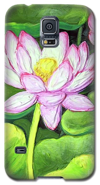 Galaxy S5 Case featuring the painting Lotus 1 by Inese Poga