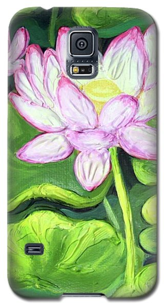 Galaxy S5 Case featuring the painting Lotus 2 by Inese Poga