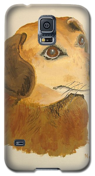 Galaxy S5 Case featuring the painting Lovable Dachshund by Norm Starks