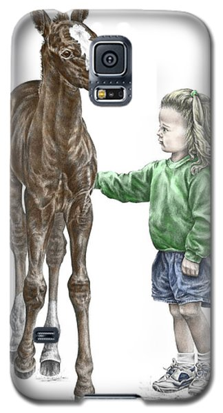 Love At First Sight - Girl And Horse Print Color Tinted Galaxy S5 Case