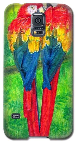 Macaw Galaxy S5 Case - Love Birds- Macaw Parrots by Sue Halstenberg
