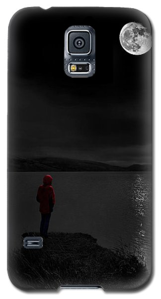 Lunatic In Red Galaxy S5 Case by Meirion Matthias