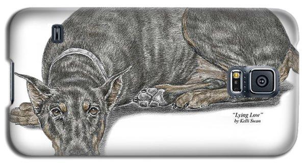 Lying Low - Doberman Pinscher Dog Print Color Tinted Galaxy S5 Case