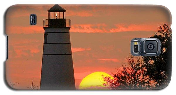 Madisonville Lighthouse Sunset Galaxy S5 Case