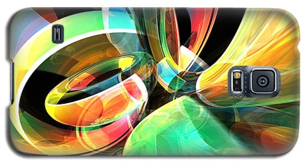 Galaxy S5 Case featuring the digital art Magic Rings by Phil Perkins