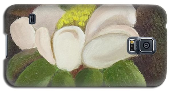 Galaxy S5 Case featuring the painting Magnificient Magnolia by Margaret Harmon