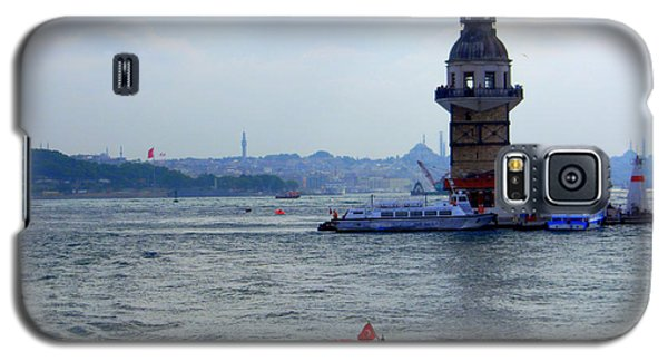 Galaxy S5 Case featuring the photograph Maidens Tower Istanbul by Lou Ann Bagnall
