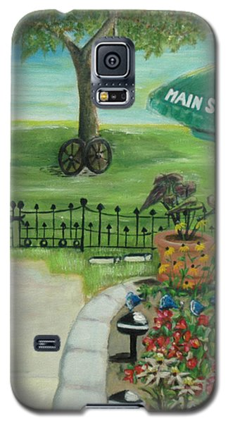 Galaxy S5 Case featuring the painting Main Street by Bernadette Krupa