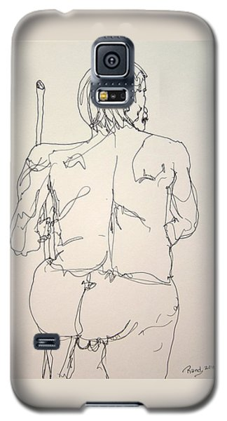 The Naked Man Hiking Galaxy S5 Case by Rand Swift