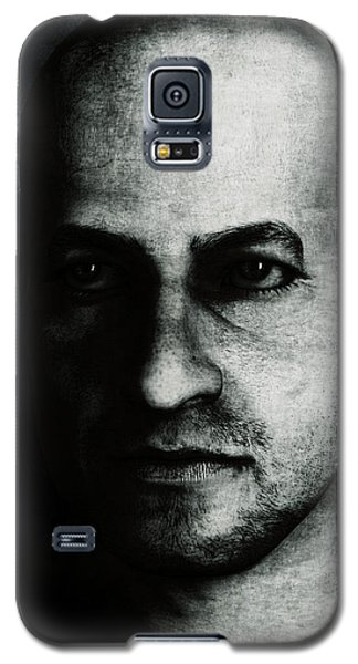 Male Portrait - Black And White Galaxy S5 Case