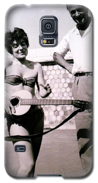Mama Chris And Gary Cooper In Monte Carlo 1958 Galaxy S5 Case