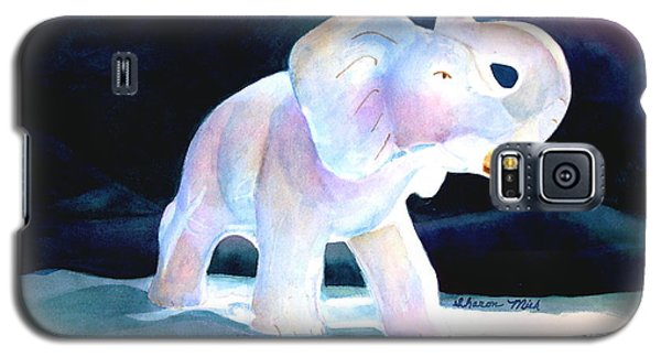 Galaxy S5 Case featuring the painting Mama's White Elephant by Sharon Mick