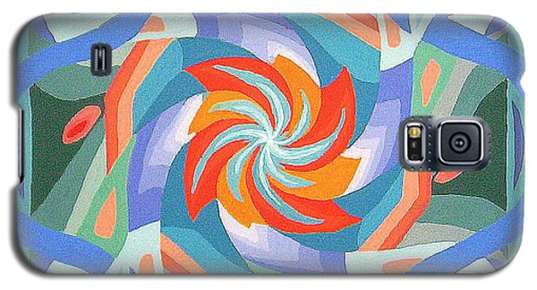 Galaxy S5 Case featuring the painting Mandala by Rachel Hames